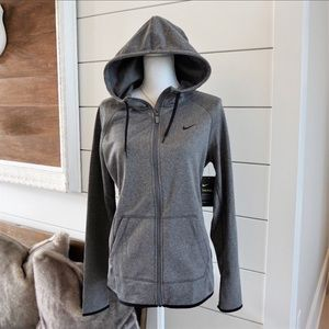 Nike Therma Dri-Fit gray hooded jacket A3